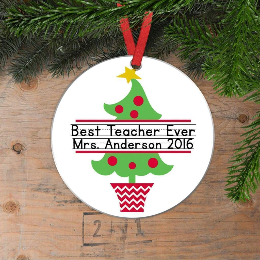Personalized Teacher Christmas Ornaments