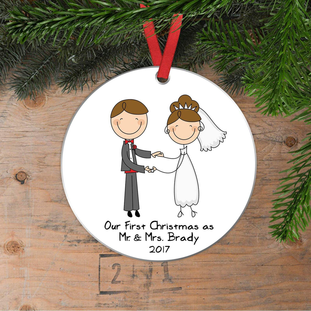 Personalized Wedding Gift Christmas Ornament - Wedding Christmas Ornament - Newlywed Christmas Gift - Our First Christmas as Mr & Mrs