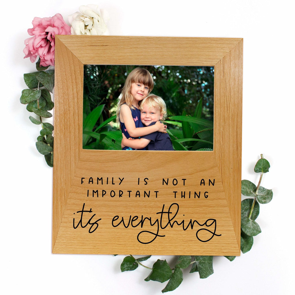 Photo frame Gift for Mom - Family Quote Wood Picture Frame Mother's Day Gift