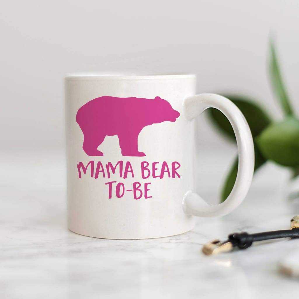 Pregnancy Announcement Coffee Mug - Mama Bear to Be Mug - Gift for Expecting Moms