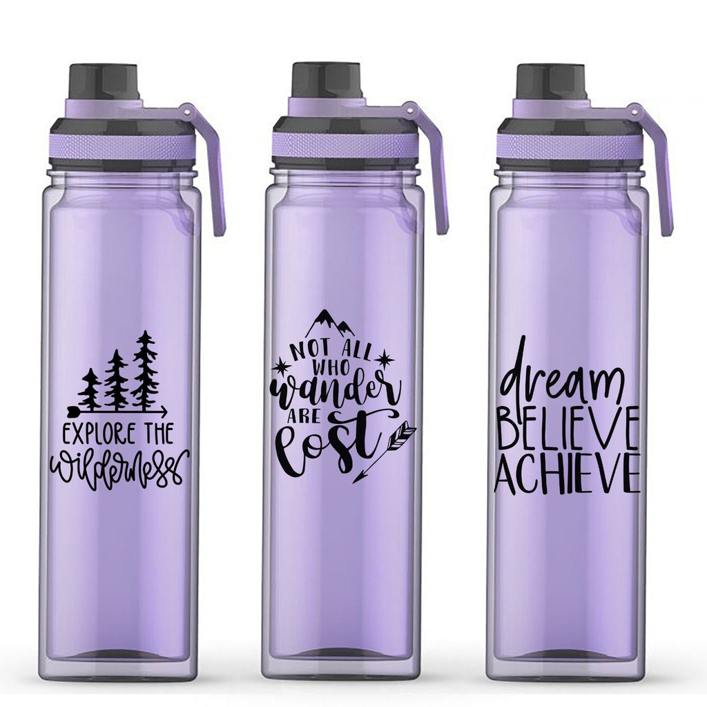 Reusable Water Bottle, motivational water bottle, Adventure Gift, Hiking Gift, Outdoor Lover Gift Ideas for Her