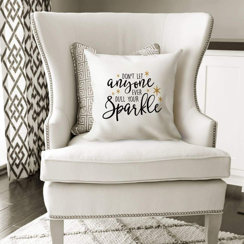 Throw Pillow with words - Motivational Quote Pillow Cover
