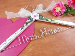 Hand Painted Wedding Hangers