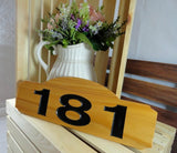 181 elegant cedar wood home address plaque