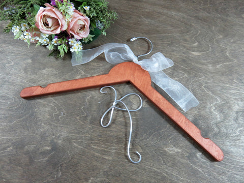 K on cherry wood wedding bridal hanger