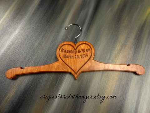 Kassidy and Wes March 29 2014 handcrafted wood hanger