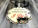 Rustic Wood Wedding Signs With These Rings We Say I Do Sign Ring Bearer Signs Wedding Photo Props