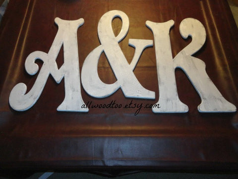 large wooden letter sets