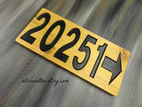 Cedar Wood Address Sign