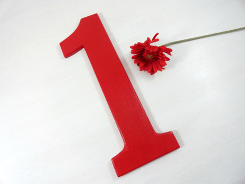 Wooden Birthday Number Prop For Babys Birthday Remember The Day