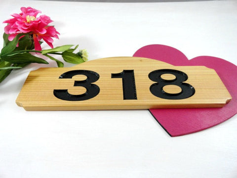 Cedar Home Address Plaque
