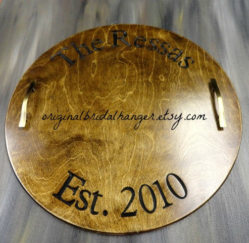 Wine Barrel Inspired Tray