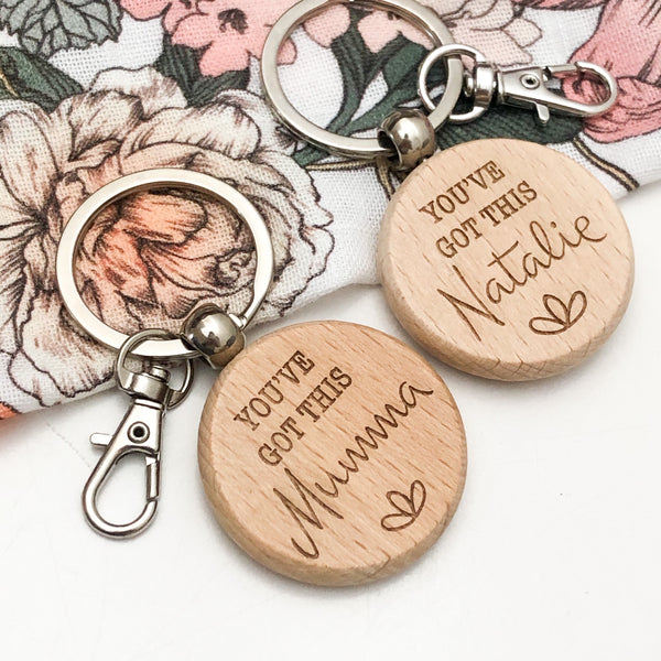 Personalised Timber Key Ring
