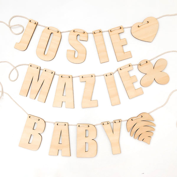 NAME Garland -  - ONE.CHEW.THREE Boutique teething, modern accessories