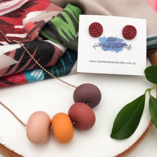 TROPICAL PALM Mumma Gift Set - Necklaces - ONE.CHEW.THREE Boutique teething, modern accessories