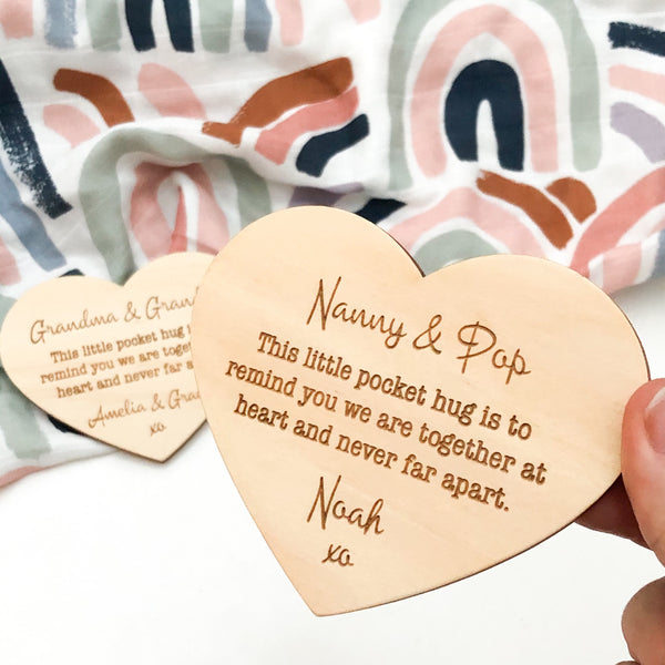 Pocket Hug Timber Plaques -  - ONE.CHEW.THREE Boutique teething, modern accessories