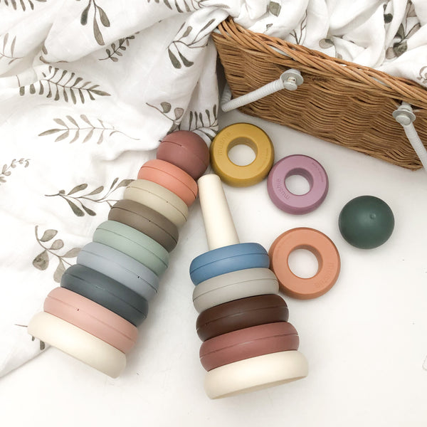mushie Stacking Rings (various colours)