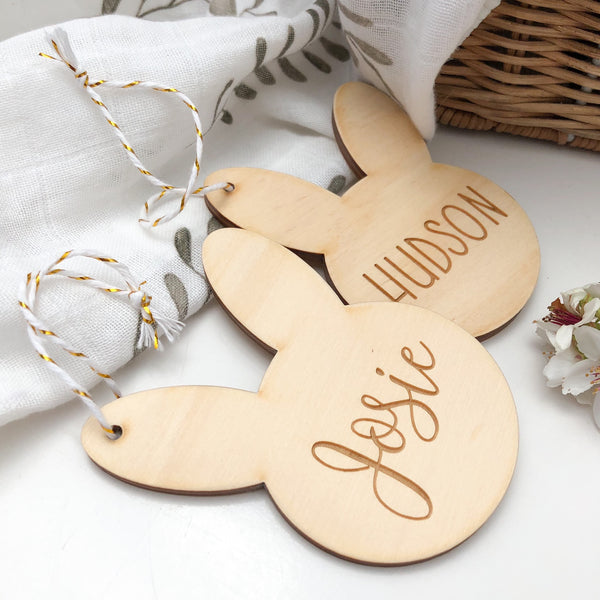 Personalised Easter Basket Bunny Tag