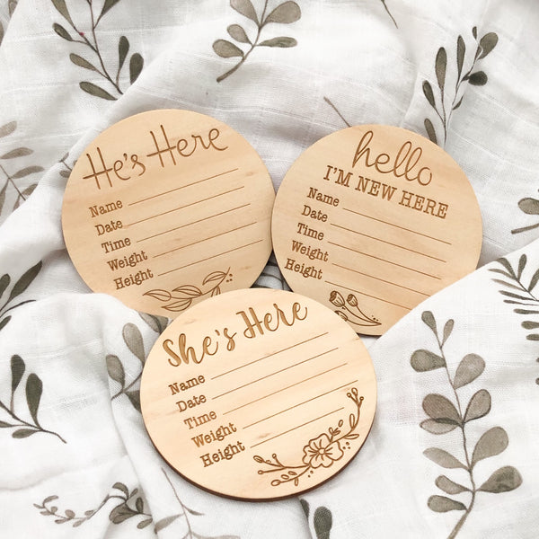 Baby Record Announcement Plaques