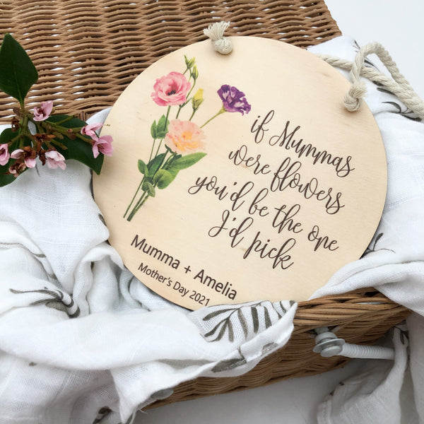 Personalised Mother's Day Hanging Plaque