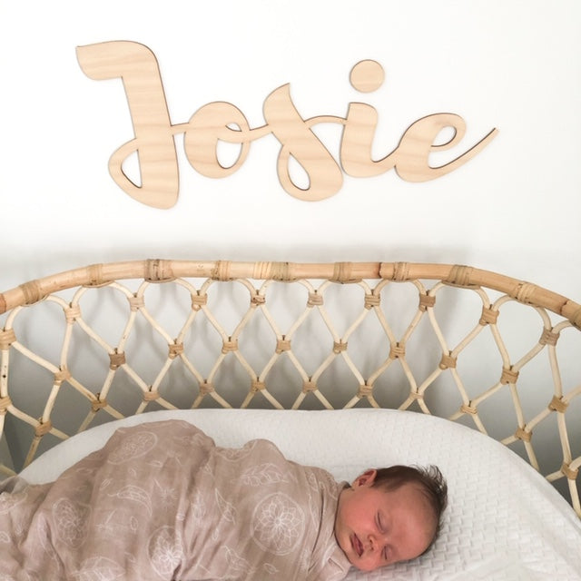 NAME Script Wall Plaque - Large -  - ONE.CHEW.THREE Boutique teething, modern accessories