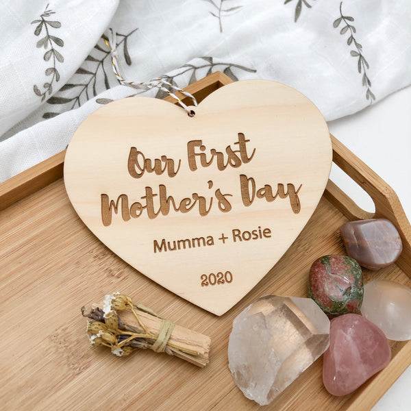 Personalised Milestone Plaque - Our First Mother's Day