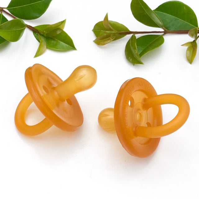 Natural Rubber Soother - Round Dummy Twin Pack -  - ONE.CHEW.THREE Boutique teething, modern accessories