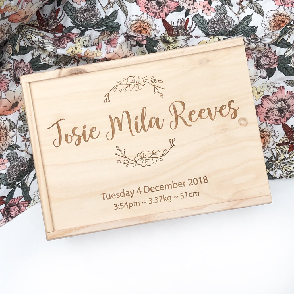 Personalised Timber Keepsake Box