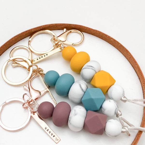 NANNY Silicone Key Chain / Nappy Bag Charm *Limited Release* - Accessories - ONE.CHEW.THREE Boutique teething, modern accessories
