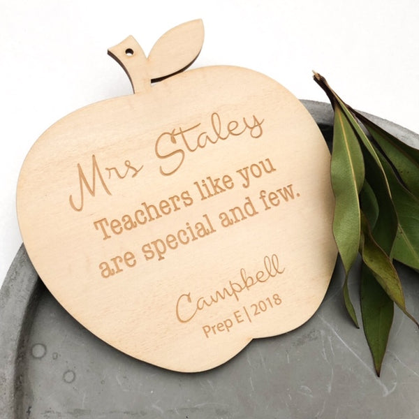 Apple Teacher Appreciation Plaque - Personalised -  - ONE.CHEW.THREE Boutique teething, modern accessories