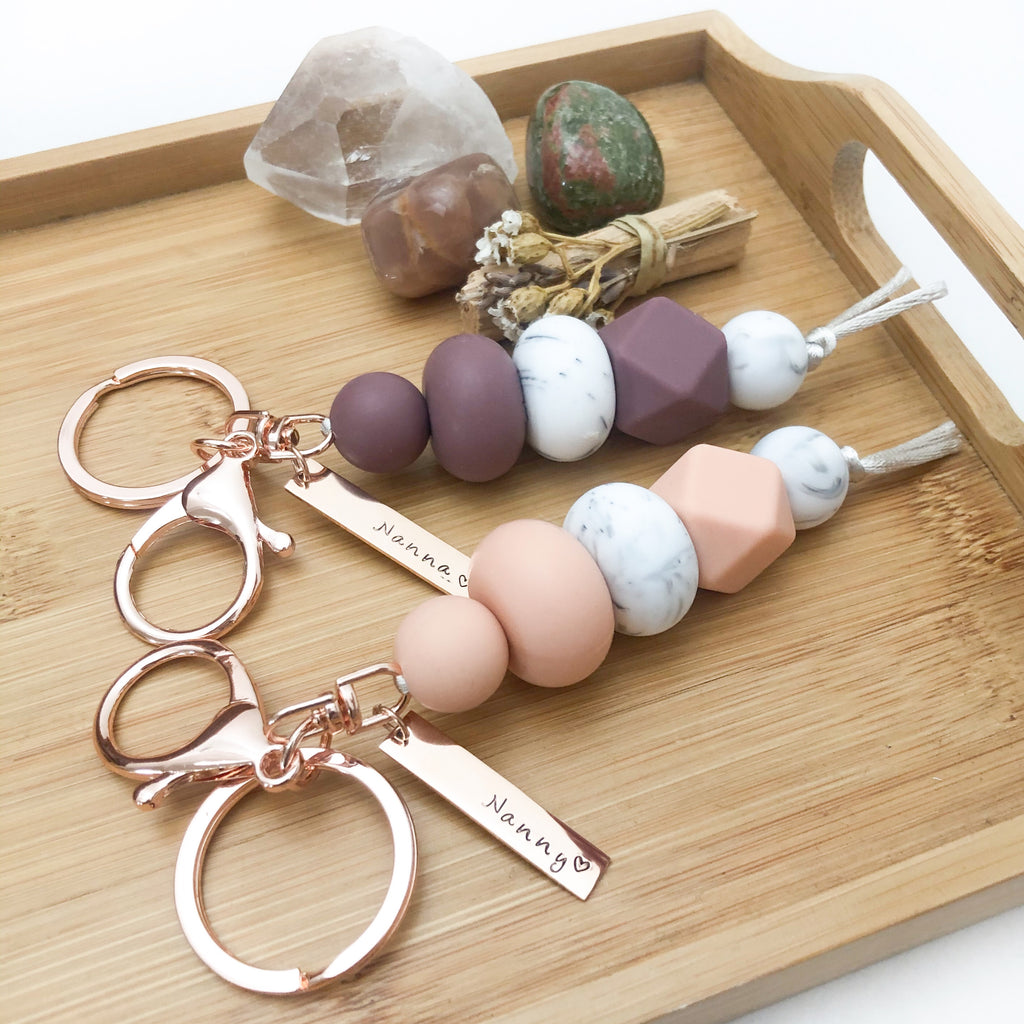 Personalised Silicone Key Chain / Nappy Bag Charm *Limited Release*
