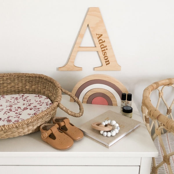 INITIAL Wall Plaque - Large -  - ONE.CHEW.THREE Boutique teething, modern accessories