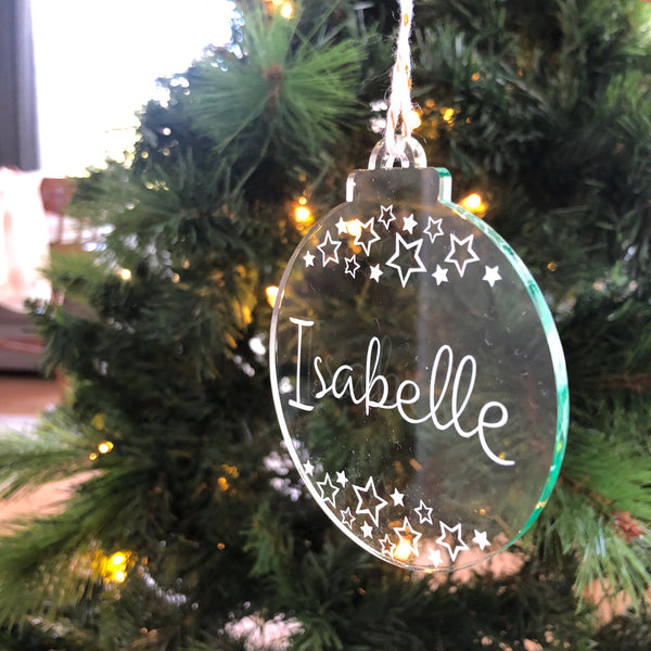 Personalised Christmas baubles - Glass-look -  - ONE.CHEW.THREE Boutique teething, modern accessories