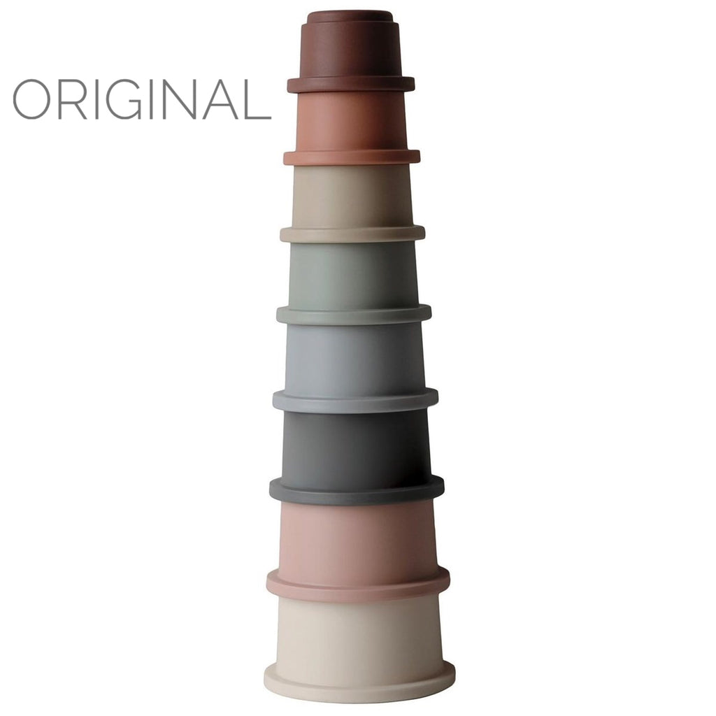 mushie Stacking Cups Tower (various colours)