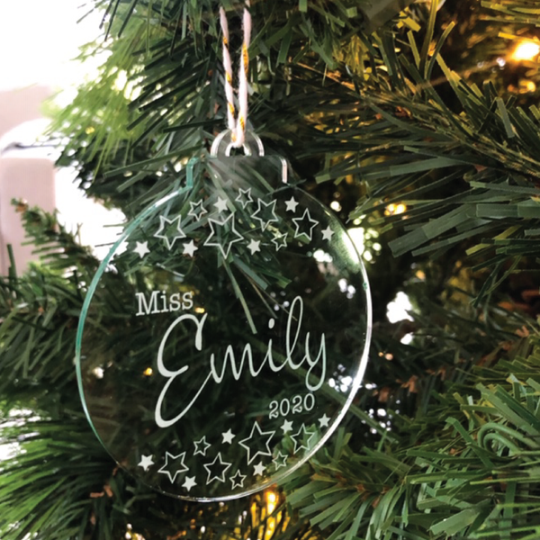Teacher Christmas Baubles - Personalised
