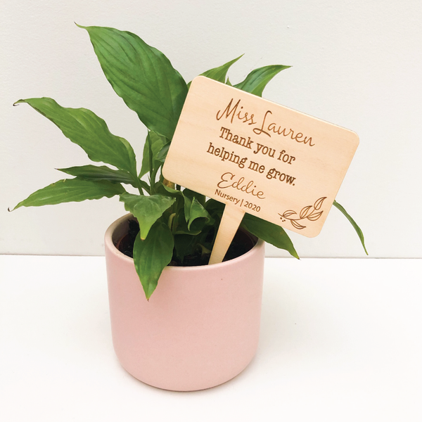 Teacher Plant Signs - Personalised