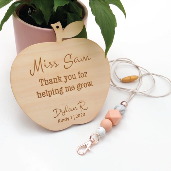 Apple Teacher Appreciation Plaque - Personalised