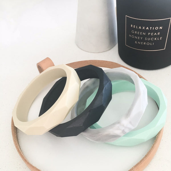 GEO Silicone Teething Bangle - Accessories - ONE.CHEW.THREE Boutique teething, modern accessories
