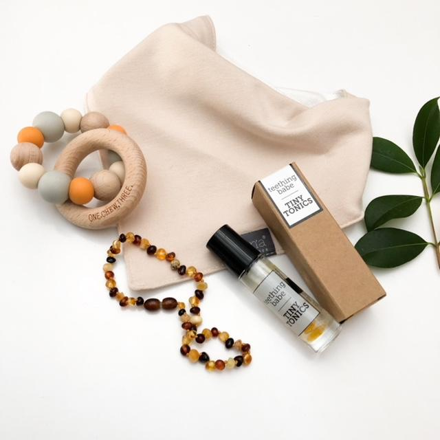 Ultimate Amber Teething Baby Gift Set - Accessories - ONE.CHEW.THREE Boutique teething, modern accessories