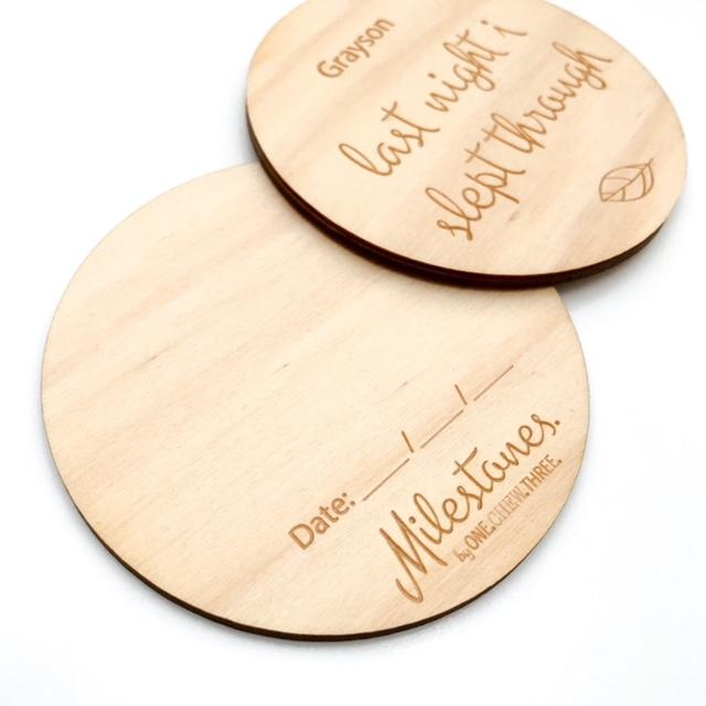 Personalised Timber Milestone Plaques - capture baby's