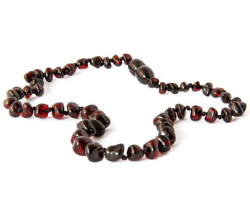 Children's Amber Necklace - CHERRY BAROQUE (Raw and Polished) -  - ONE.CHEW.THREE Boutique teething, modern accessories