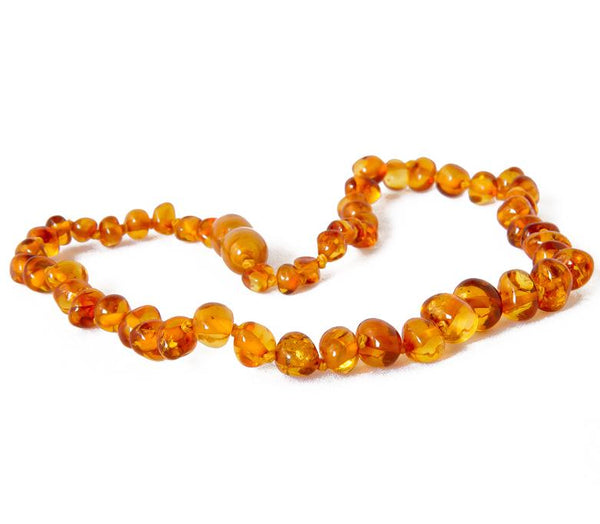 Children's Amber Necklace - COGNAC BAROQUE (Polished) -  - ONE.CHEW.THREE Boutique teething, modern accessories