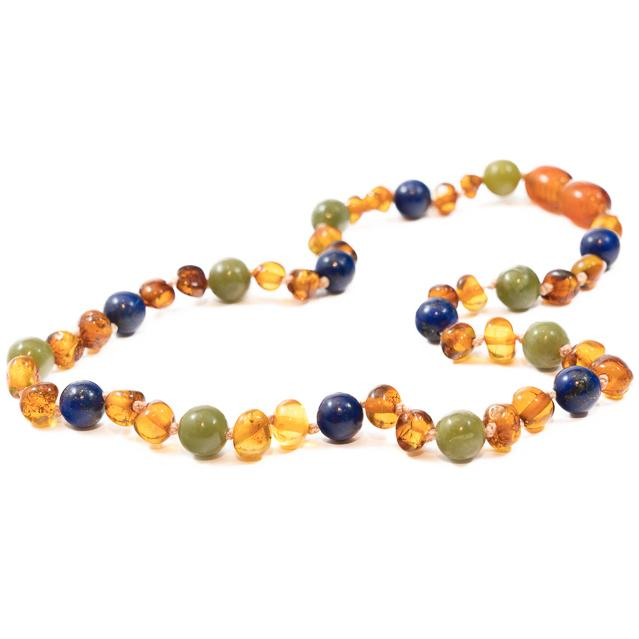 Children's Amber Necklace - WINTER DREAM -  - ONE.CHEW.THREE Boutique teething, modern accessories
