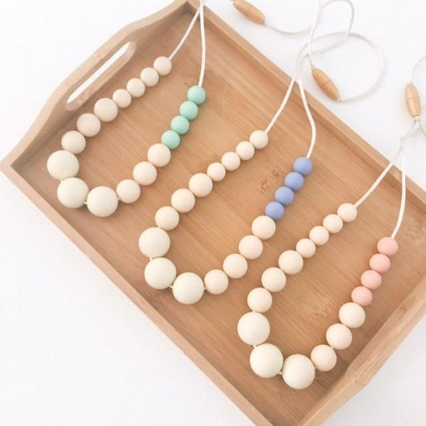 ELKE Silicone Necklace - Necklaces - ONE.CHEW.THREE Boutique teething, modern accessories