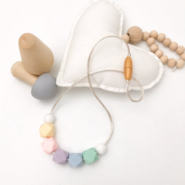 GRACIE Mini Me Silicone Necklace (3yrs plus) - Necklaces - ONE.CHEW.THREE Boutique teething, modern accessories