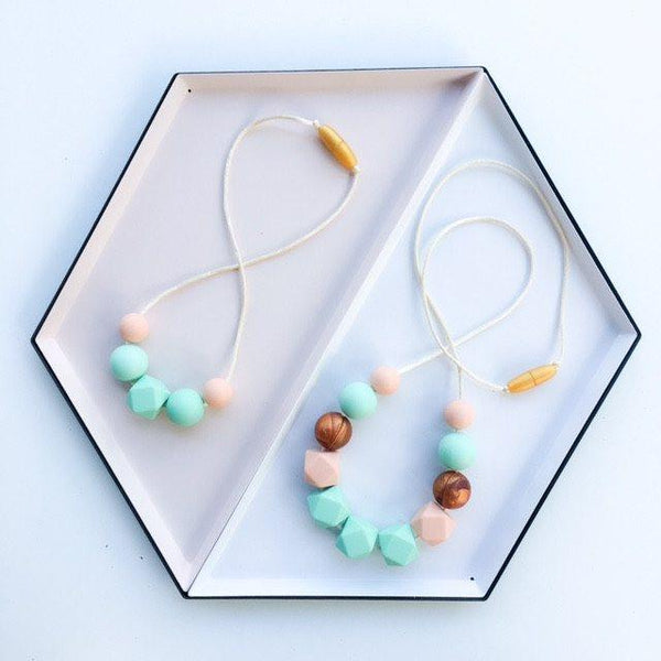 LILY Mini Me Silicone Necklace (3yrs plus) - Necklaces - ONE.CHEW.THREE Boutique teething, modern accessories