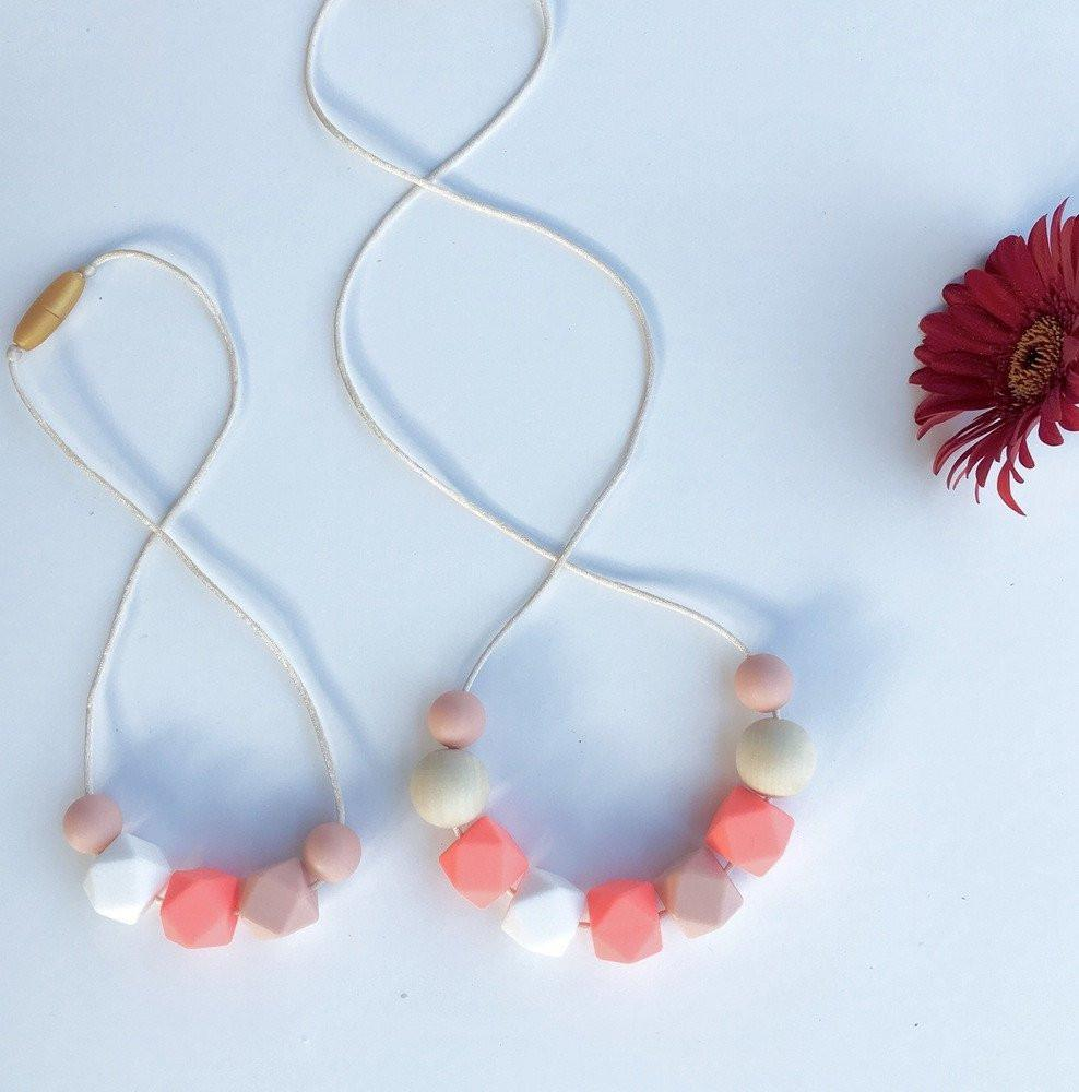 Mumma + MINI ME Necklace Set - Necklaces - ONE.CHEW.THREE Boutique teething, modern accessories