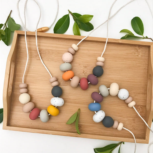 NALA Silicone Necklace - Necklaces - ONE.CHEW.THREE Boutique teething, modern accessories