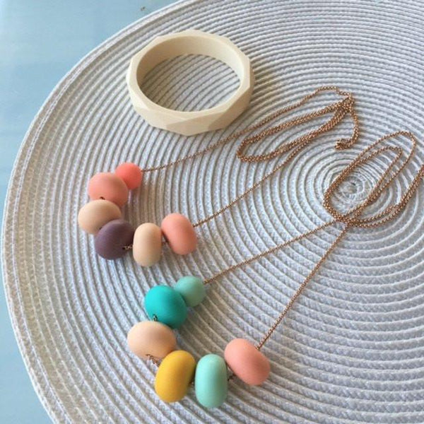 OLIVIA Silicone on Stainless Chain Necklace - Necklaces - ONE.CHEW.THREE Boutique teething, modern accessories