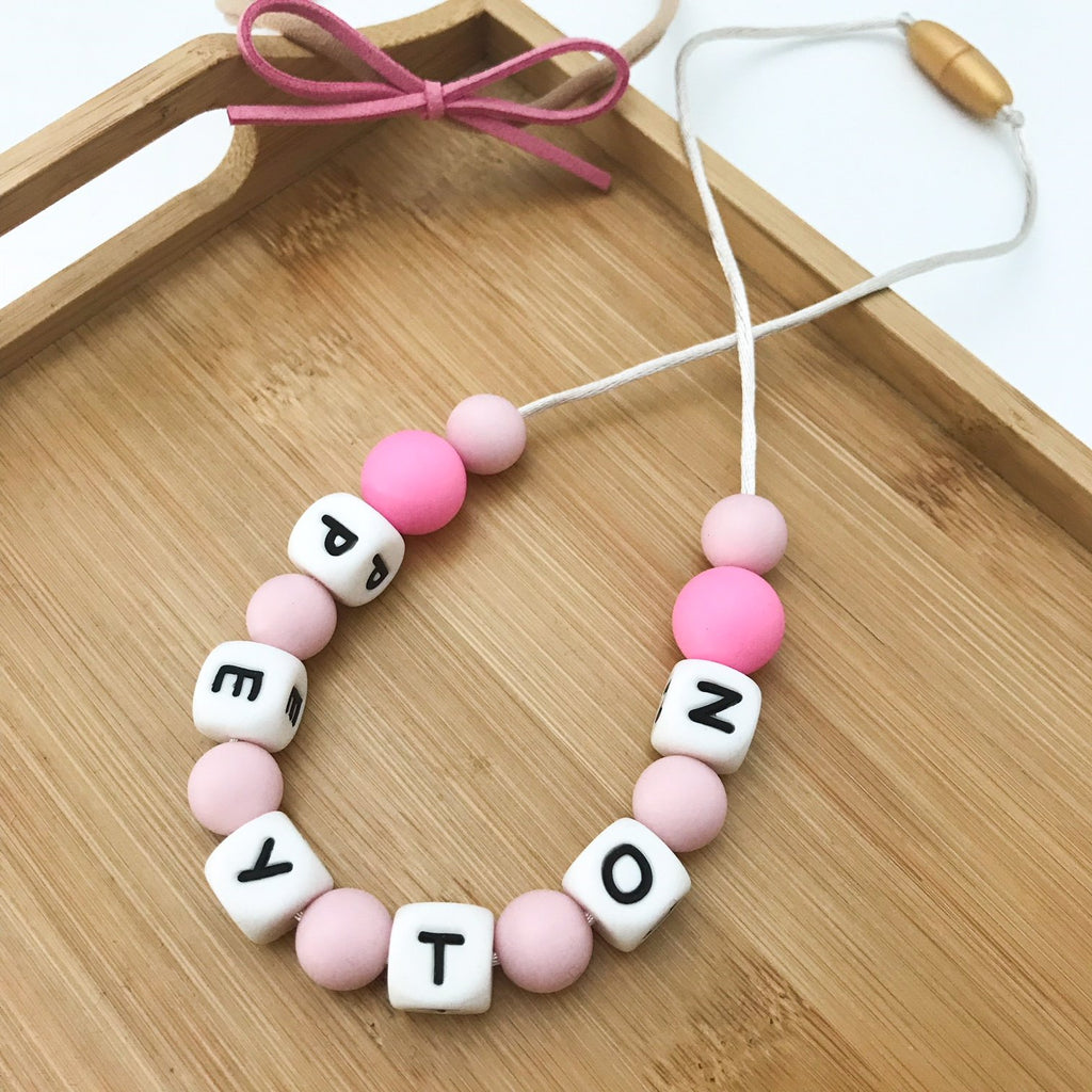 PERSONALISED 'Mini Me' Kids Silicone Necklace (3 years +) - Necklaces - ONE.CHEW.THREE Boutique teething, modern accessories